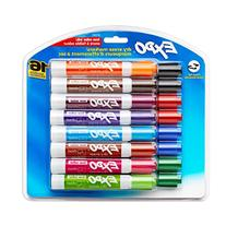 Expo Low-Odor Dry Erase Markers, Chisel Tip, 16-Pack,