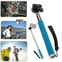 HDE Extendable Handheld Selfie Stick POV Action Shot Monopod