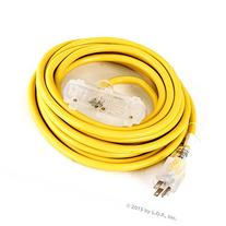 25 ft Extension Cord 3 Plug Lighted 12/3 Gauge Indoor