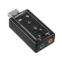 External USB 2.0 to 3D Virtual Audio Sound Card Adapter 7.1