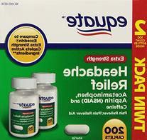 Extra Strength Headache Relief Twin Pack, 200ct, By Equate,