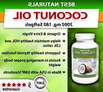 Best Naturals Extra Virgin Coconut Oil 1000 mg Softgel, 180