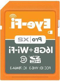 Eye-Fi 16GB Pro X2 SDHC Class 10 Wireless Flash Memory Card