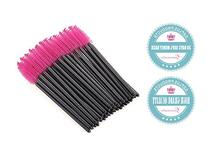 G2PLUS 100 Pack Disposable Eyelash Mascara Brushes Wands
