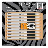 Zebra F-301 Ballpoint Pen, Retractable, 0.7mm, Assorted, 9