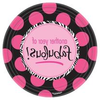 Faboulous Birthday Plate  8ct  Per Amazon Combined Package