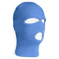 Face Ski Mask 3 Hole - Electric Blue