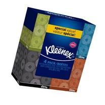 Kleenex Facial Tissue - 55 2-ply Box, 4 Pack,Designs may