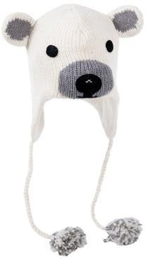 Nirvanna Designs CHPLBEAR Polar Bear Hat with Fleece, White