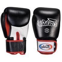 Fairtex Muay Thai-Style Sparring Glove, Black/White, 14-