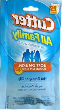 Cutter All Family 15 Count Insect Repellent Mosquito Wipes 7