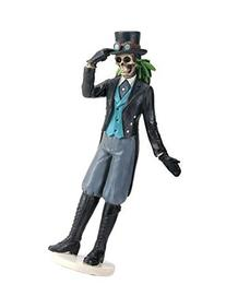 4 Inch Fancy Dressed Gothic Groom with Gloves Skull Figurine