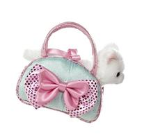 Aurora World Fancy Pals Toy Pet Carrier Plush Purse, Blue