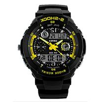 Fanmis Sports Watches Multifunction Dual Time Led Light