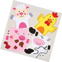 Farm Animals Hand Puppet Felt Sewing Kits for Children to