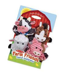 Melissa & Doug Farm Friends Hand Puppets  - Cow, Horse,