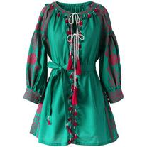 Chicwish Fascinating Stitch Tunic in Emerald Green
