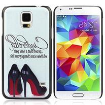 Kingfansion High-heeled Shoes Pattern Skin Case Cover for