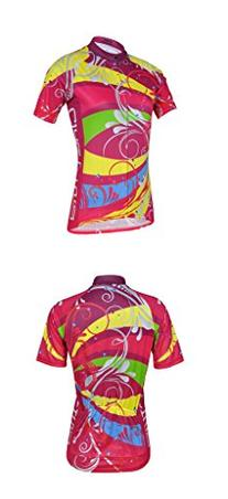 Womens Fashional Short Sleeve Cycling Jersey Suit