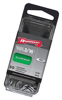 "Arrow Fastener WA3/16 3/16"" Aluminum Washers 30 Count"