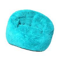 Faux Fur Bean Bag Chair - Teal