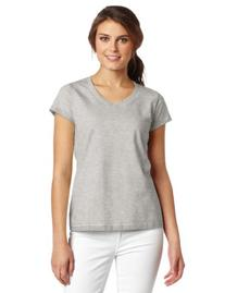Champion Women's Favorite V-Neck Tee, Oxford Gray, XX-Large