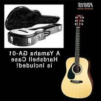 Yamaha FD01S Full Size Folk Guitar with Yamaha Deluxe