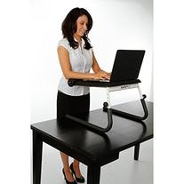 FitDesk Table Top Standing Desk with Massage Bar