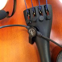 """""""THE FEATHER"""" VIOLIN PICKUP with FLEXIBLE MICRO-GOOSE NECK"""
