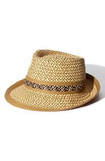 Eric Javits Women's 'Big Deal' Fedora Hat in Peanut