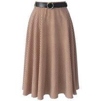 Chicwish Feeling Groovy Midi Skirt in Tan