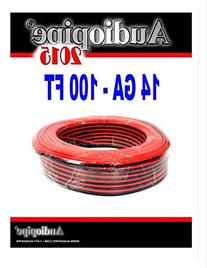 100' Feet 14 Gauge Red Black Stranded 2 Conductor Speaker