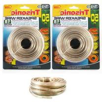 100 Ft Feet 18 Awg Ag Gauge Audio Speaker Wire Cable Car