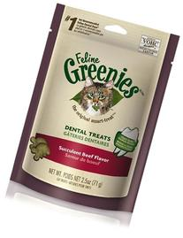 FELINE GREENIES 3oz Bag Beef
