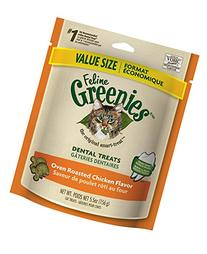 Greenies FELINE Dental Treats For Cats Savory Salmon Flavor