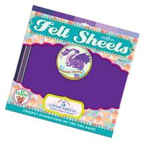 eeboo Felt Sheets Purple Dragon Color