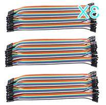 Frentaly® 3X Multicolored 40pin Female to Female Breadboard