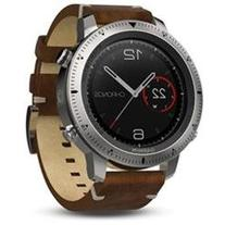 Garmin fenix Chronos Steel GPS Watch with Vintage Leather