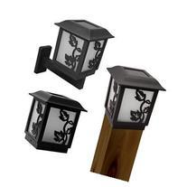 Feuille Collection Set of 2 Black Leaf Solar LED Path Lights