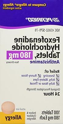 Fexofenadine HCl 180mg 100ct. *Compare to Allegra
