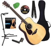 Yamaha FG730S Acoustic Guitar BUNDLE w/ Gig Bag, Strap,