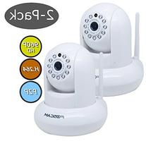 Foscam FI9831P 2-Pack 1.3 Megapixel 1280 x 960P Wireless IP