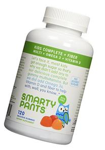 SmartyPants Kids Fiber Complete, Multi with Omega 3 and