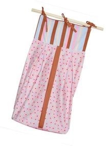 Tadpoles Field of Flowers Diaper Stacker in Pink and