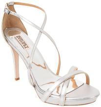 Badgley Mischka Women's Fierce Ankle-Strap Sandal,Silver/
