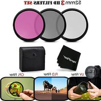3 Piece High Definition 52mm Filter SET with Protective Case