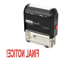 FINAL NOTICE! Self Inking Rubber Stamp - Red Ink