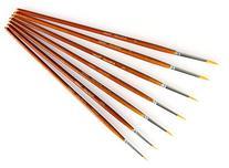 Fine Detail Paint Brush Set - 7 Pieces Miniature Brushes for