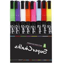 3mm Fine Tip - SuperChalks Color Liquid Chalk Marker Pens 8-