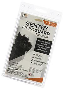 SENTRY Fiproguard Flea and Tick Topical for Dogs, 4-22 lbs,